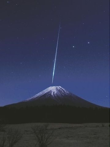 Mt.Fuji and shooting star
