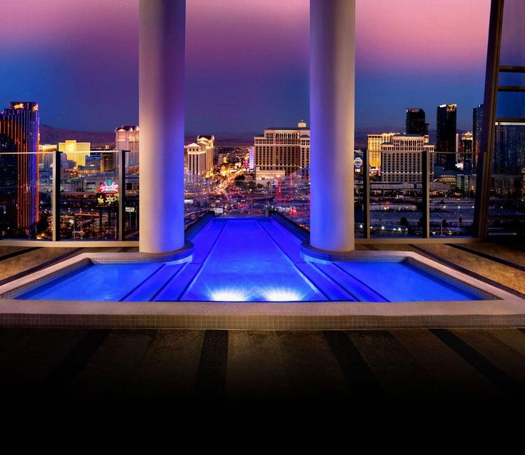 Sky Villa at the Palms Casino Resort, Las Vegas, NV  From $40,000 per weekend  Living like a Vegas VIP isn't cheap, as proven by the Palms Casino Resort's two-story Sky Villa. Starting at $40,000 for the weekend, the lavish suite features a balcony pool, private glass elevator, massage room, and 24-hour butler service.