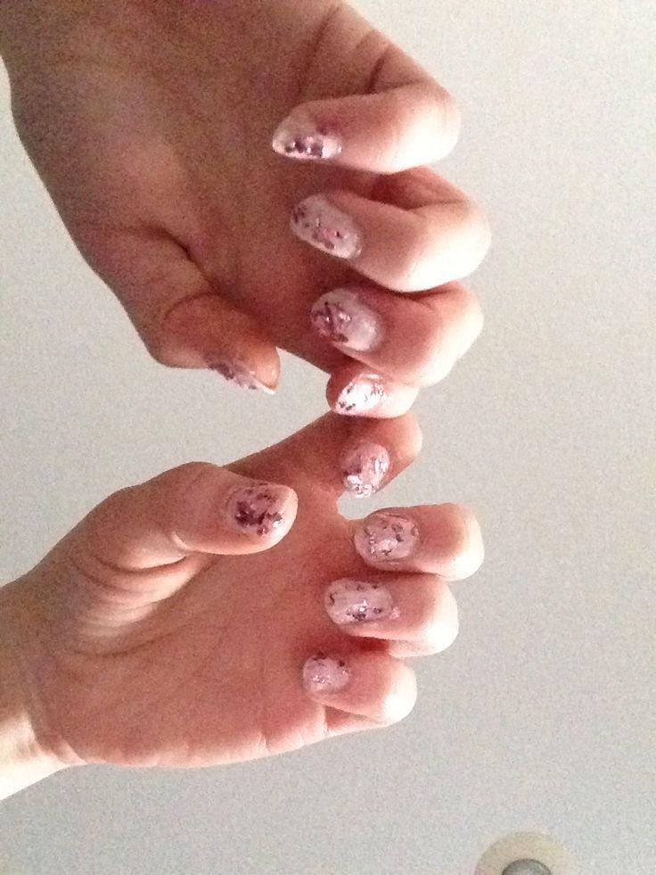 Rose petal nails