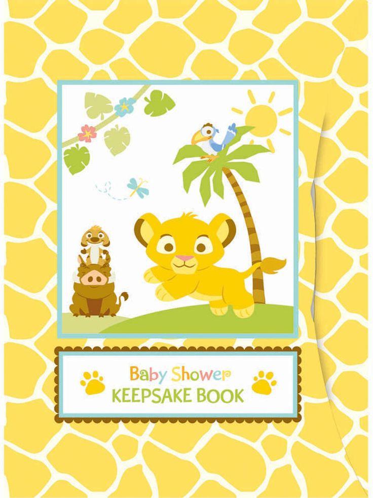 Disney Lion King Baby Keepsake Baby Shower Book