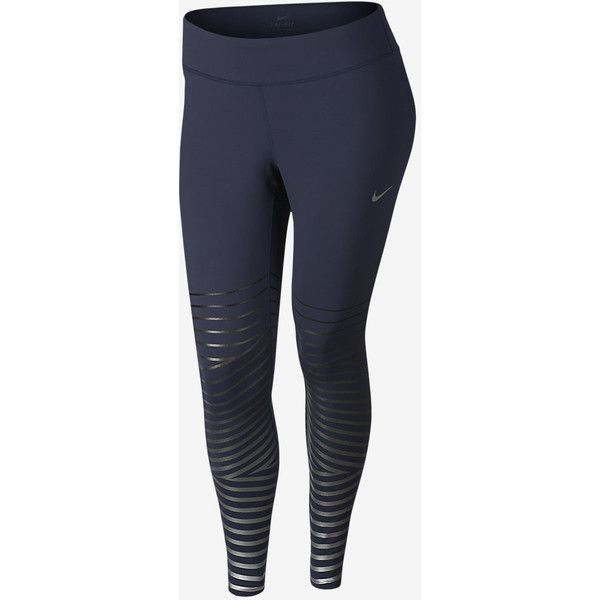 Nike Epic Lux Flash Women's Running Tights (Plus Size). Nike.com (£89) ❤ liked on Polyvore featuring activewear, activewear pants, plus size activewear, nike sportswear, nike activewear, plus size sportswear and plus size activewear pants