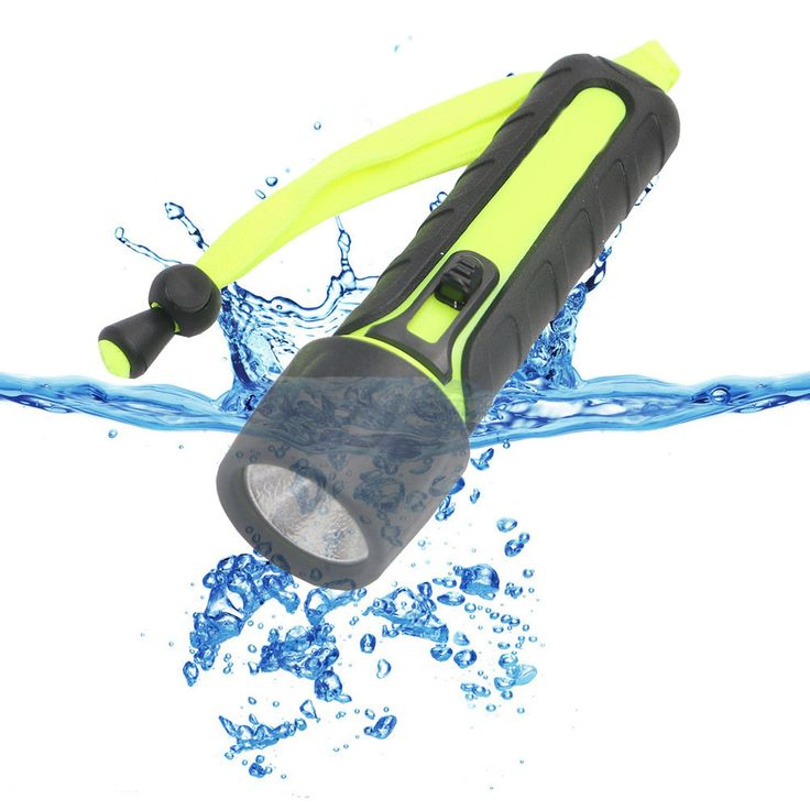 LED Diving Flashlight Bright LED PC+TPE Torch Flash Light Uses 4*AA Batteries Powerful LED Light Come With Tail Rope #Affiliate