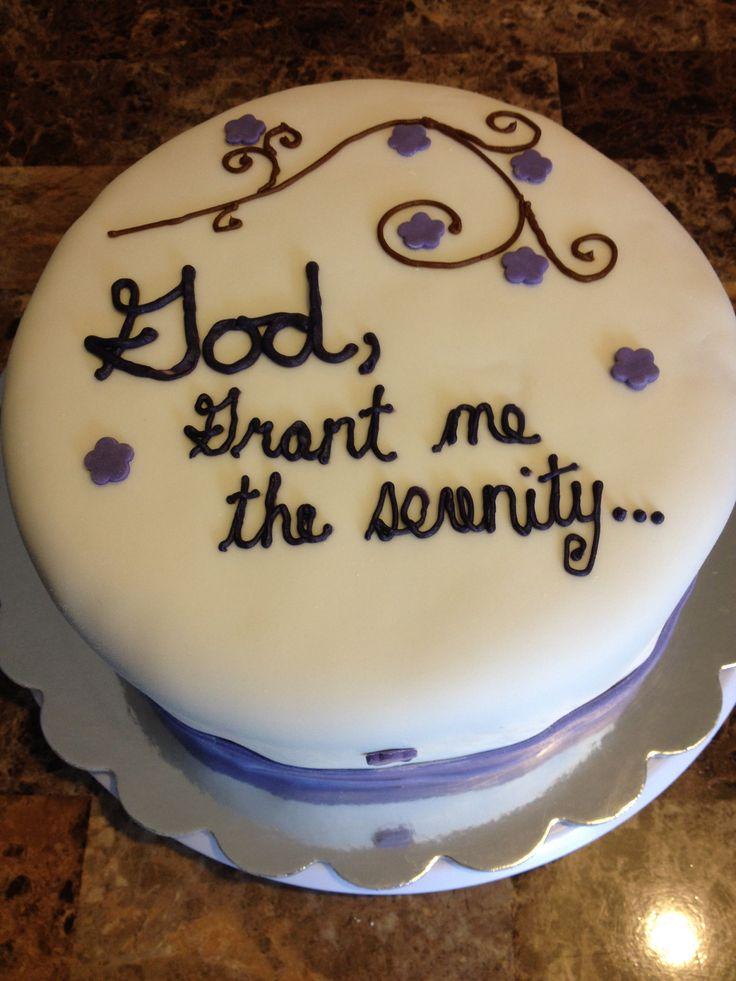 1 Year Sobriety Cake Cakes I Made Sobriety Sobriety