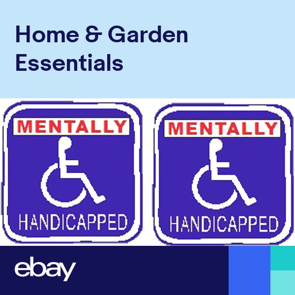 Mentally Handicapped sticker S-159