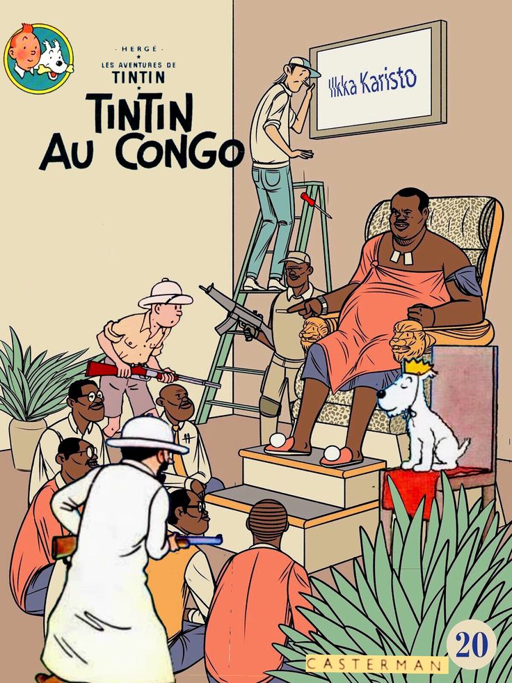Tintin au Congo (blended with Superimpose)