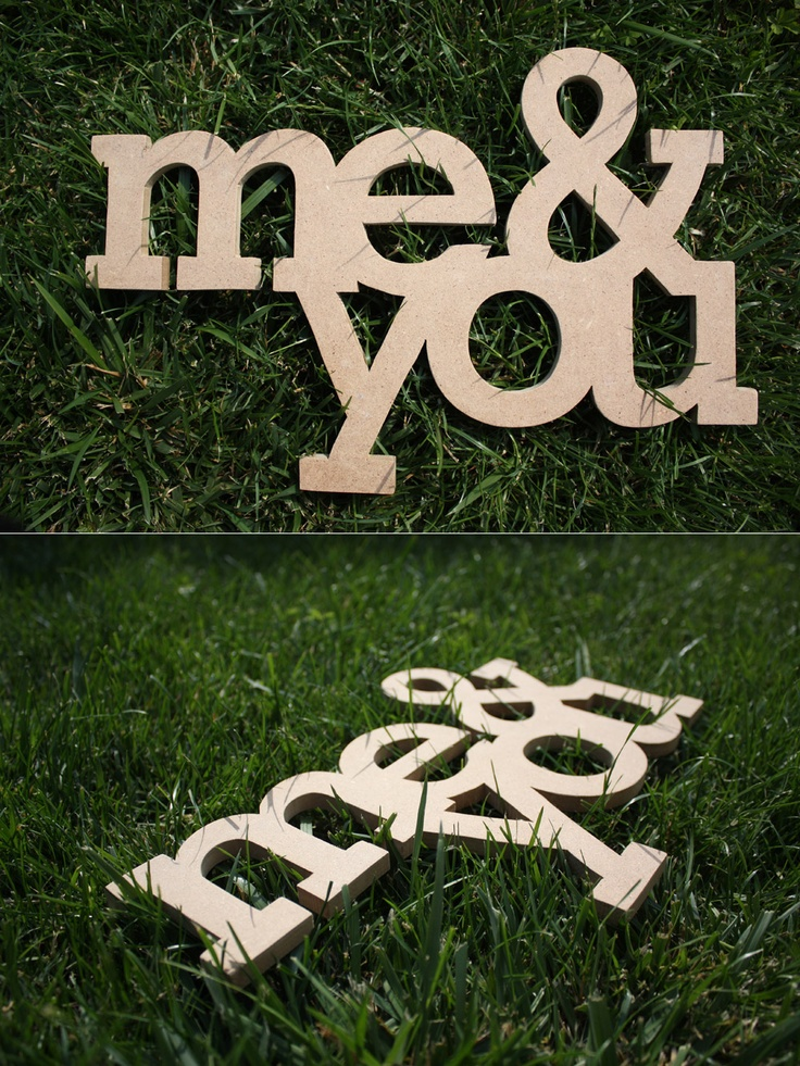 Me & You- MDF write, #handmade, not yet coloured, width cm 35, depth 1 cm.  Someone interested?