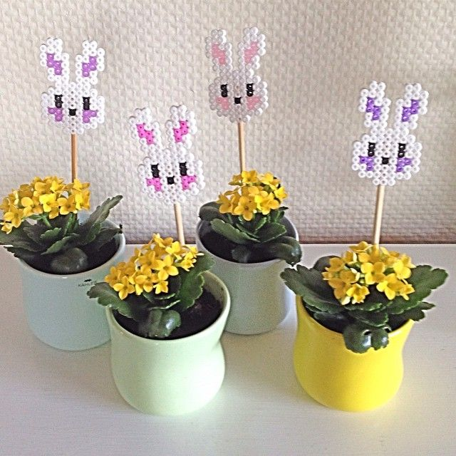 Easter ornaments hama perler beads by krealiving