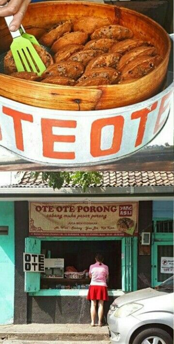 OTE OTE / HECIE  nama jajanan yang populer di jawa timur. Bahan utama tepung terigu,wortel,tauge, kol dg bumbu sederhana.
