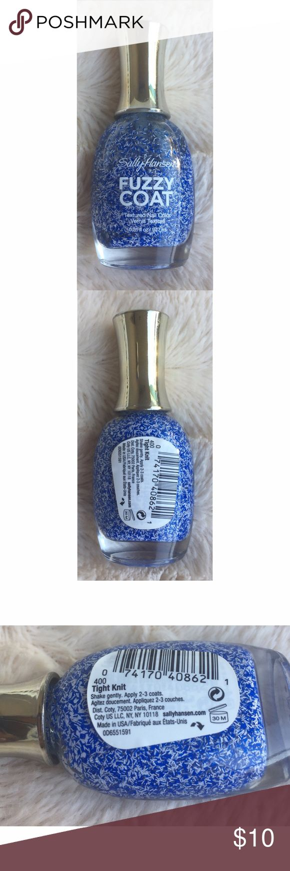 Sally Hansen fuzzy coat nail polish Texture nail color. Never been used. Brand new. 0.31 fl oz. Sally Hansen color - 400 tight knit. Vernis texture Sally Hansen  Makeup