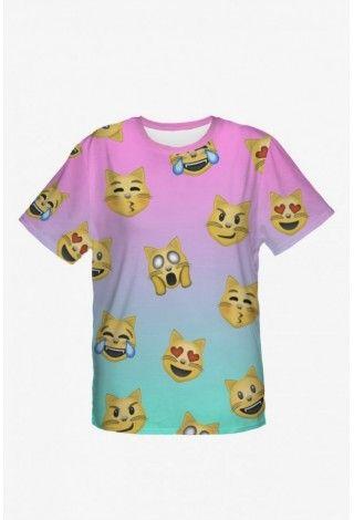 Tričko Oversize Emoji Cats