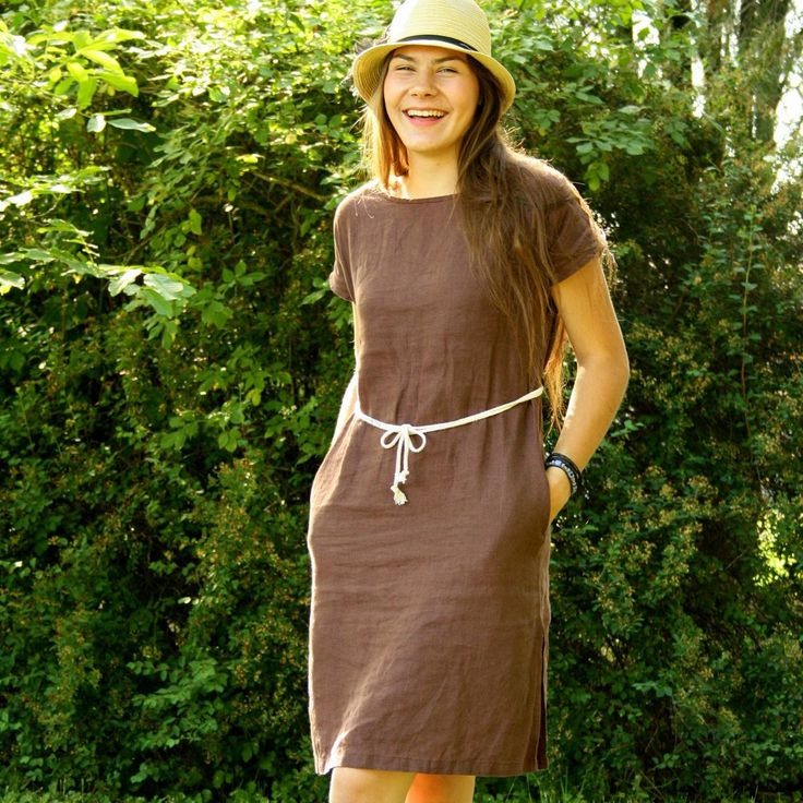 DAMARA - Linen dresses that are chic!   100% Flax by POHAN4U on Etsy