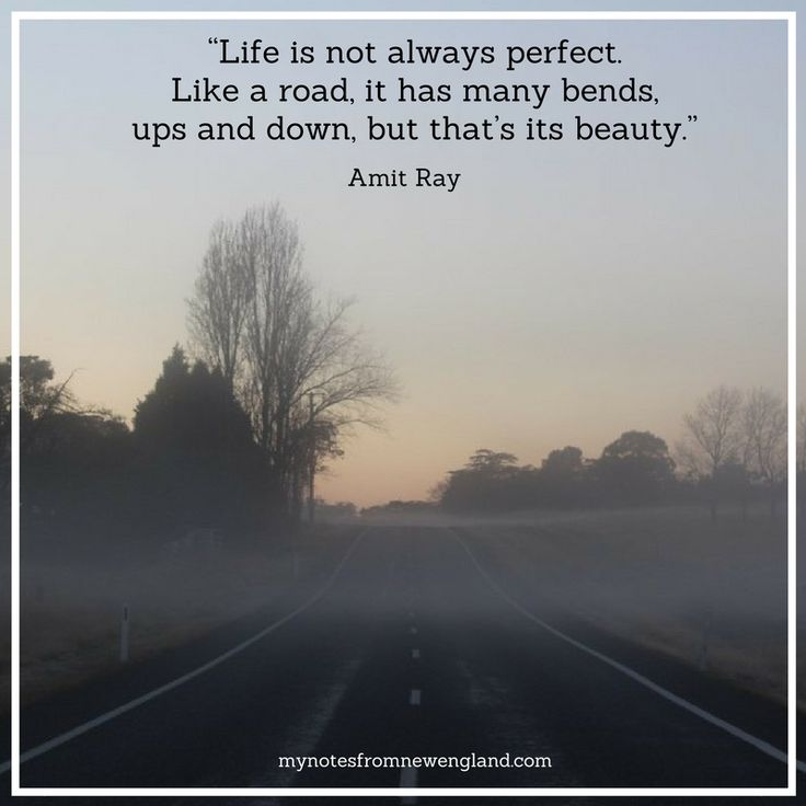 """Life is not always perfect. Like a road, it has many bends, ups and down, but that's its beauty.""  Amit Ray"