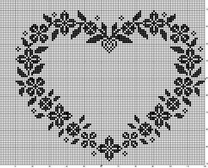 Gallery.ru / Фото #123 - MONOCOLOR - aaadelayda      nice floral border in heart shape