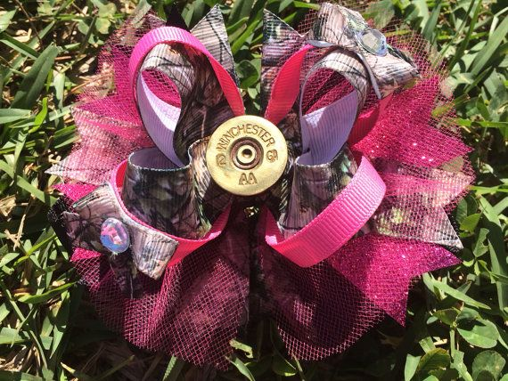 Camo hair bow by Muffynbows on Etsy