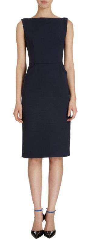 Barneys New York Boatneck Sheath Dress