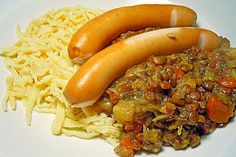 Schwäbische Linsen mit Spätzle und Saitenwürstchen, ein schmackhaftes Rezept aus der Kategorie Hülsenfrüchte. Bewertungen: 58. Durchschnitt: Ø 4,6.
