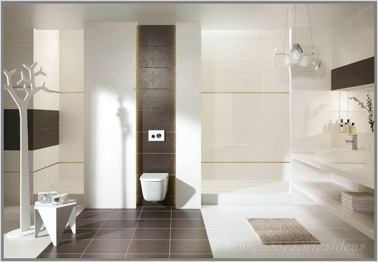 Wunderbar Bodenfliesen Beeinflussen Das Gesamtbild Des Badezimmers, Fliesen. Bath  DesignHome DesignModern ...