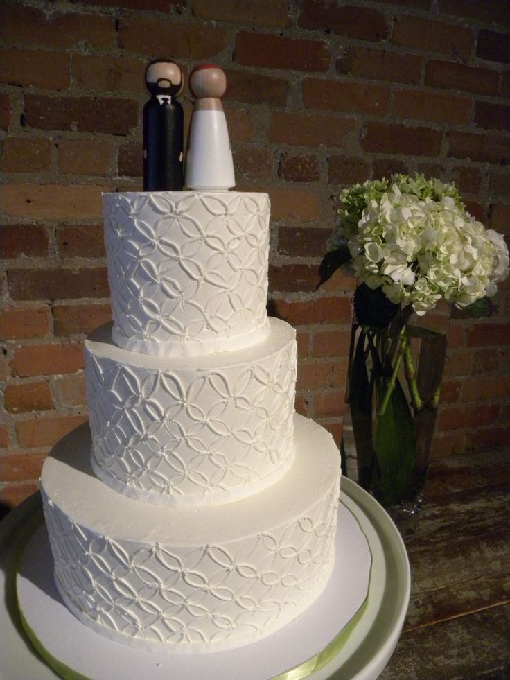 19 best buttercream wedding cake designs images on for Cute simple cakes