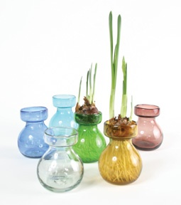 Recycled Glass Bulb Vases - Available in Green & Turquoise