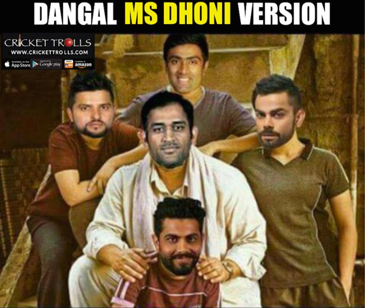 Dangal  MS Dhoni version featuring Suresh Raina Ashwin Ravi Virat Kohli and Ravindra Jadeja For more cricket fun click: http://ift.tt/2gY9BIZ #bollywood #cricket #Dangal - http://ift.tt/1ZZ3e4d