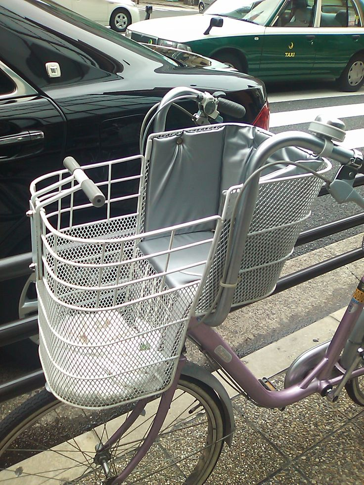 cuper awesome Japanese convertible child bike seat, it's also a basket!