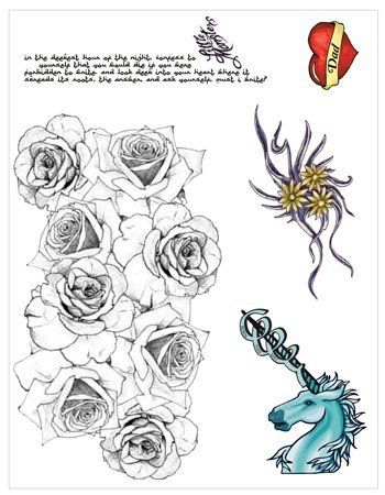 "Lady Gaga Temporaray Tattoo by Tattoo Fun. $35.00. This 8 1/2"" X 11"" sheet of Temporary tattoos are similar to Lady Gaga's."