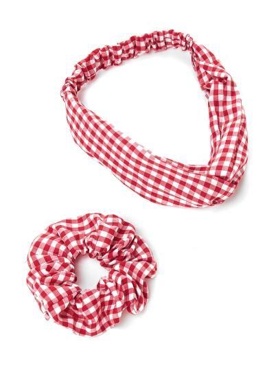 Gingham Print Headband   Hair Tie  af2f471a9e8