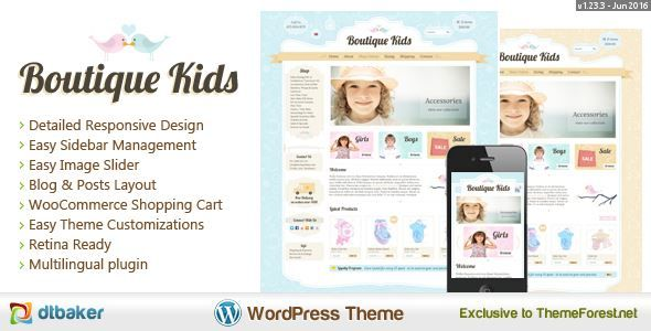 ThemeForest - Boutique Kids Creative - WordPress WooCommerce  Free Download