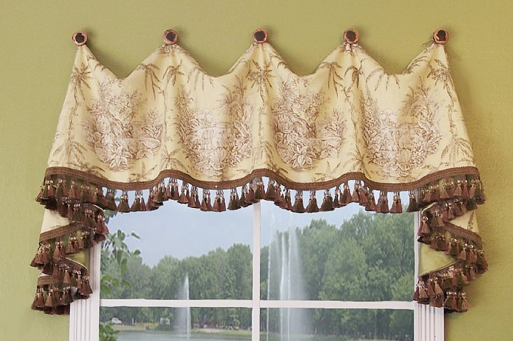sewing patterns for valances and swags | martinique valance