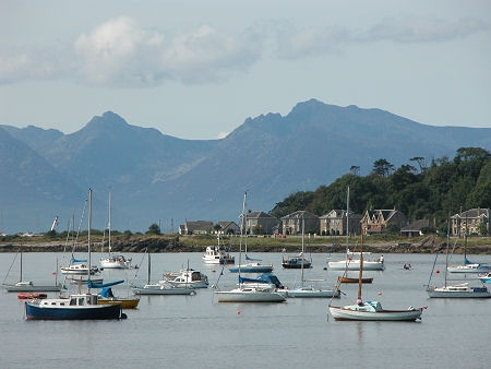 Millport; Isle of Cumbrae, looking out towards West Bay and onto the sleeping warrior of the Arran hills.