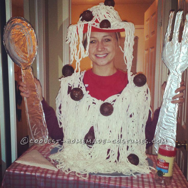 Cool Diy Adult Spaghetti Costume Homemade Halloween