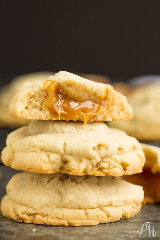 Caramel Stuffed Sugar Cookies https://www.callmepmc.com/caramel-stuffed-sugar-cookies/?utm_campaign=coschedule&utm_source=pinterest&utm_medium=Paula%20%7C%20CallMePMc.com&utm_content=Caramel%20Stuffed%20Sugar%20Cookies