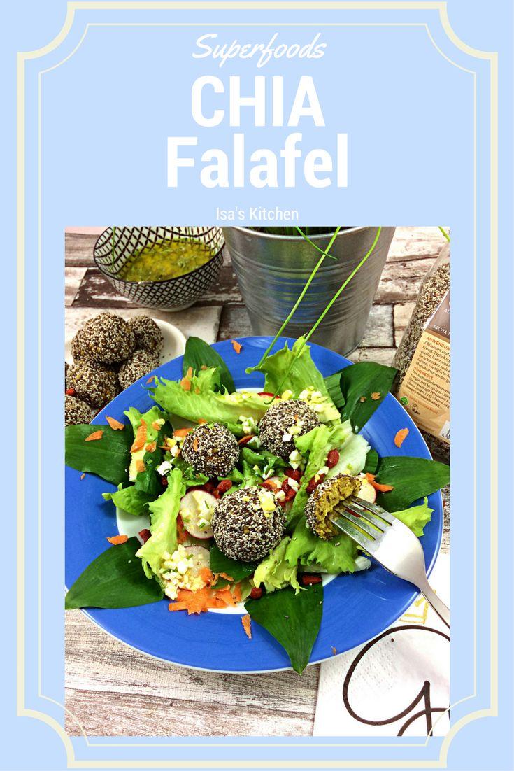 Chia Falafel und Frühlingssalat bei Isa's Kitchen
