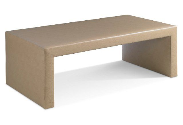 Grandville Upholstered Coffee Table, Tan