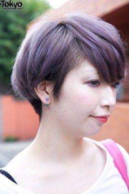 ヘアカラー ショート 紫3