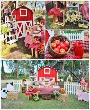 Chic Barnyard Birthday Party via Kara's Party Ideas