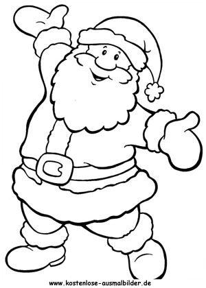 bildergebnis für einfache santa claus malvorlagen | ausmalbilder | weihnachten, ausmalbilder