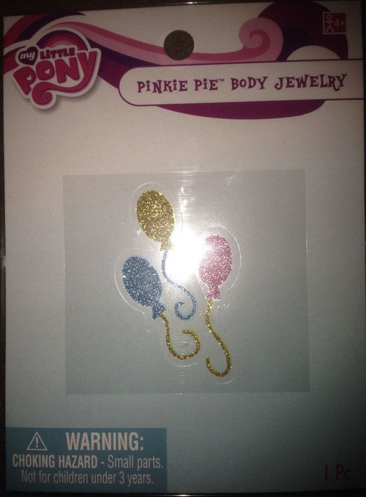 Hasbro My Little Pony Body Jewelry Glitter Ballons - Pinkie Pie    | eBay