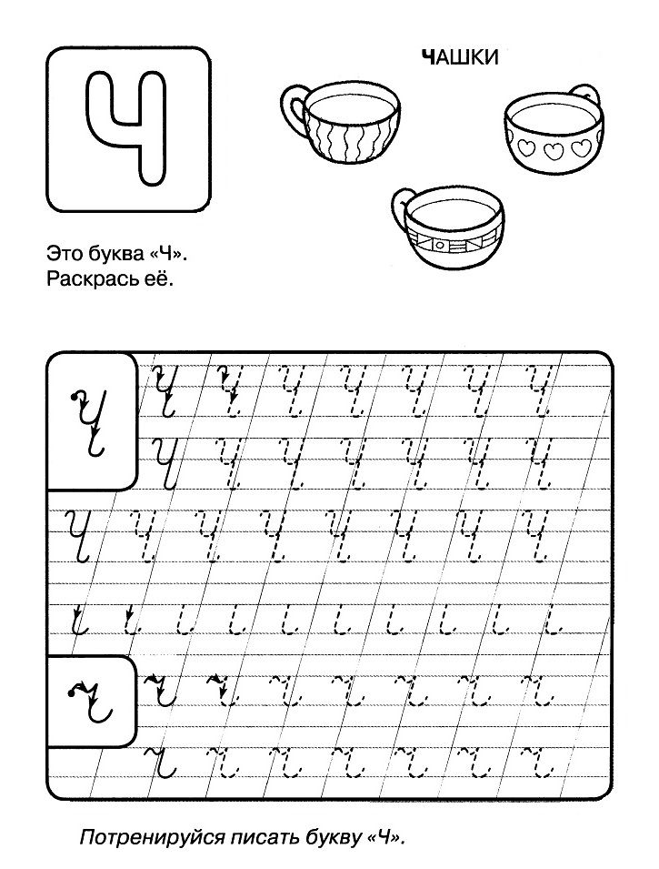 Раскраска пропись буква Ч | Уроки письма, Прописи, Алфавит