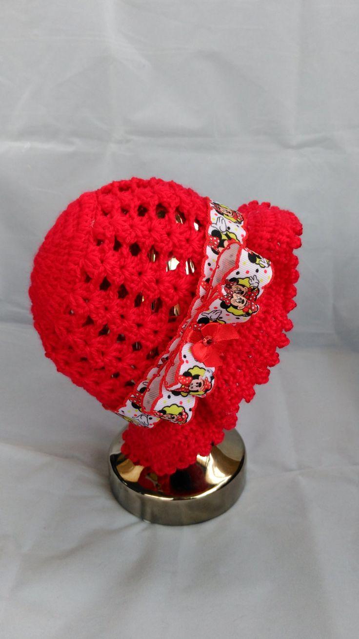 Crochet, Girls Red Crochet Sun Hat, Baby Hat, Sun Hat, Crochet Hat, by PPbabyboutique on Etsy