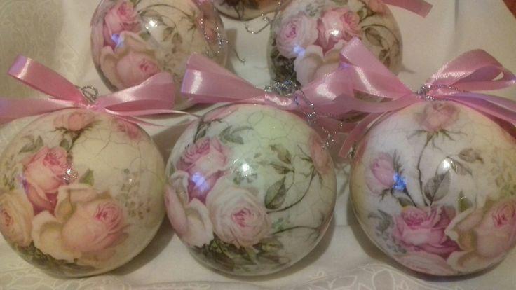 Christmas ball with rose