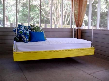 DIY: Hanging outdoor bed | Do It Yourself Home Projects from Ana White