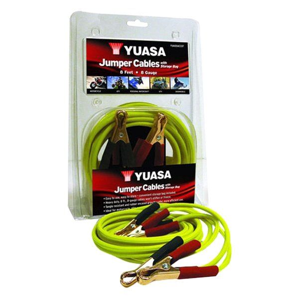 Yuasa JUMPER CABLE. *Heavy Duty, 8ft, 8-Gauge Cables Won't Stiffen or Freeze*