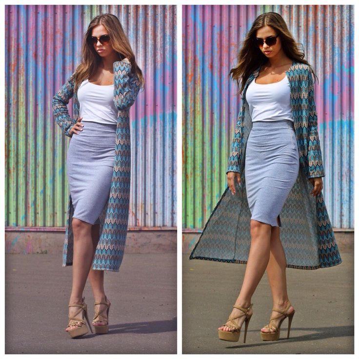 Накидка и трикотажная юбка