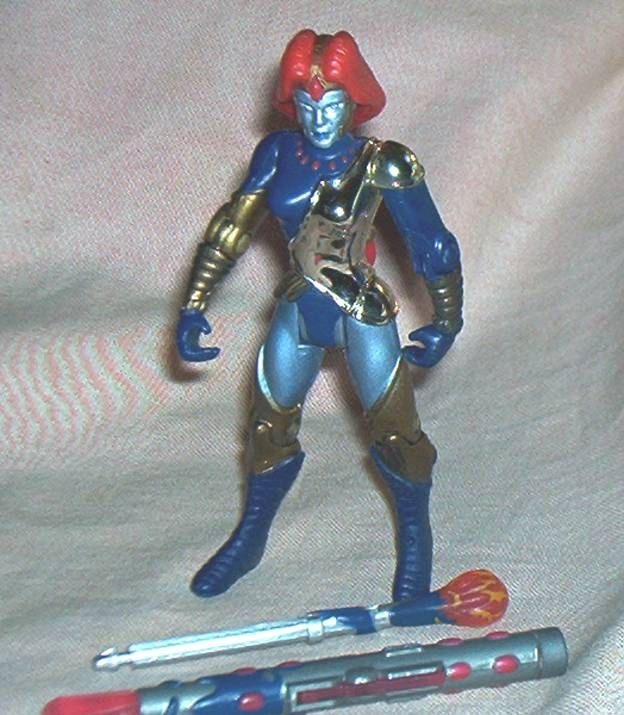 """ULTRAFORCE, loose figure of TOPAZ, with Firing Crystal Staff, 4.5"""" Action Figure, Galoob/Malibu Comics/L.G.T.T., '95, Exc. by brotoys1 on Etsy"""