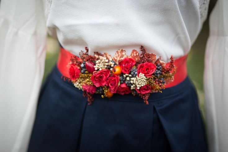 Cinturón de flores de Magaela por DaWanda.com