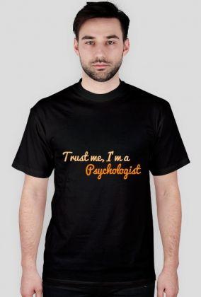 Trust me, I'm a psychologist - męska, pomarańczowa, 43,00 zł, #psychologia, #psychology, #psychopraca, #cupsell, #gifts, #prezenty, #trustme