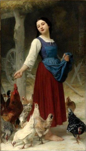 The Farmer's Daughter - Elizabeth Jane Gardner Bouguereau (1837 - 1922)