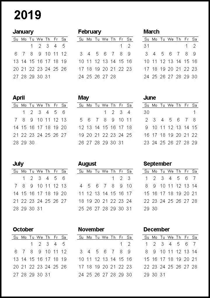 Free Printable Calendar 2020 With Holidays Pdf Word Excel