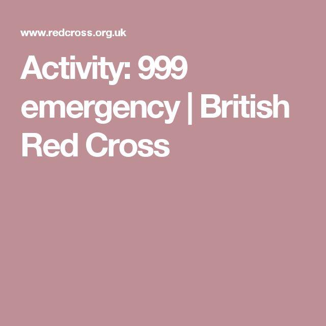 Activity: 999 emergency | British Red Cross